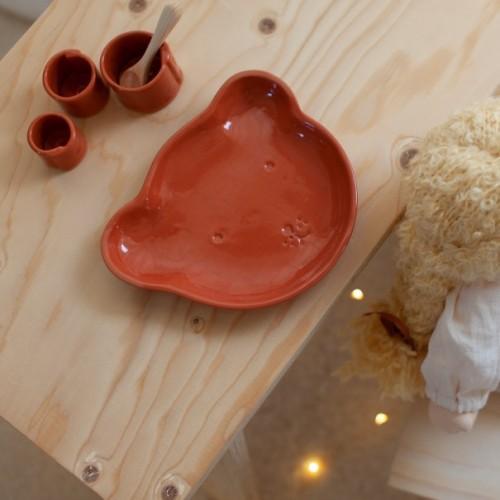 assiette de bébé ours Cinq à 10