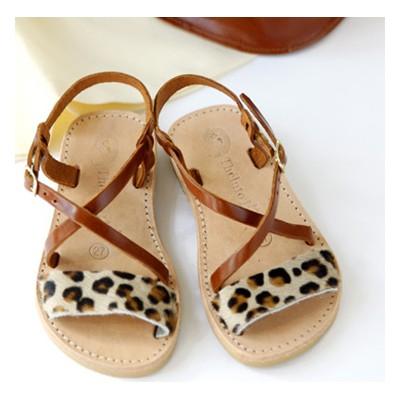 sandales grecques léopard