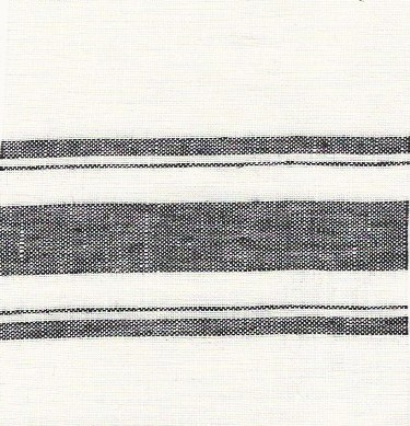 black and white khadi stripe