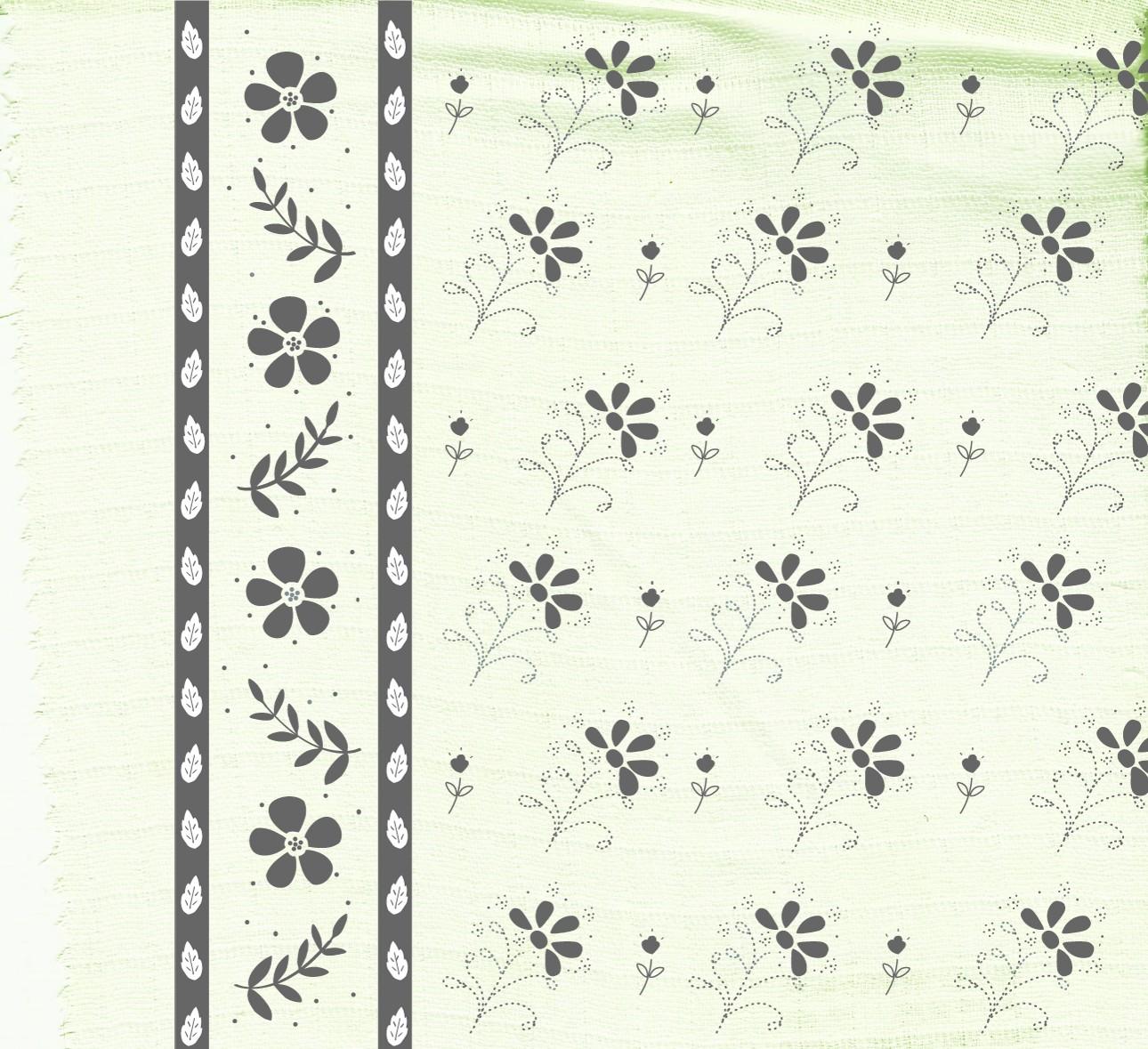Double gaze de coton organique imprimée
