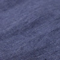 Indigo washed linen