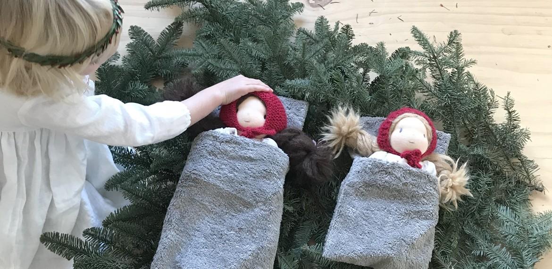 sac de couchage pour les poupées