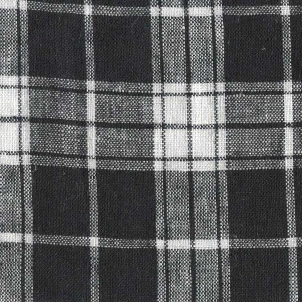 Black and offwhite tartan