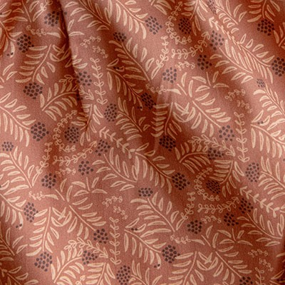 Morrocan pink printed cotton