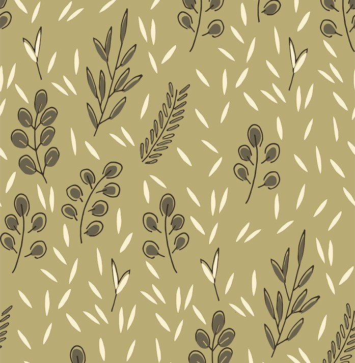 Under olive trees printed cotton