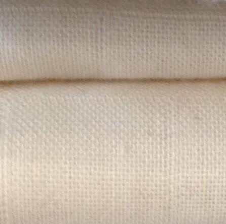 Lange de coton bio écru certifié GOTS